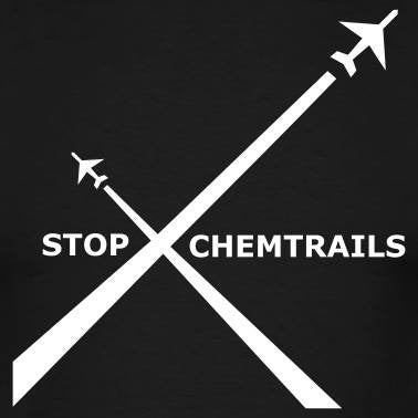 Stop Chemtrails Airplanes Protest | Die Cut Vinyl Sticker Decal | Blasted Rat