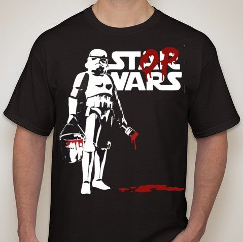Star Wars Stop Wars Stormtrooper Graffity T-shirt | Blasted Rat