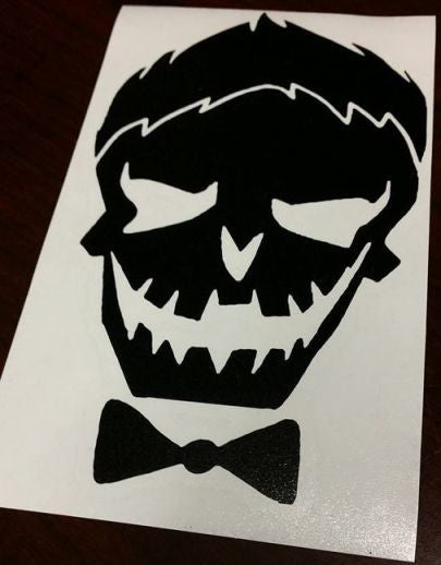 Suicide squad joker skull die cut vinyl sticker decal