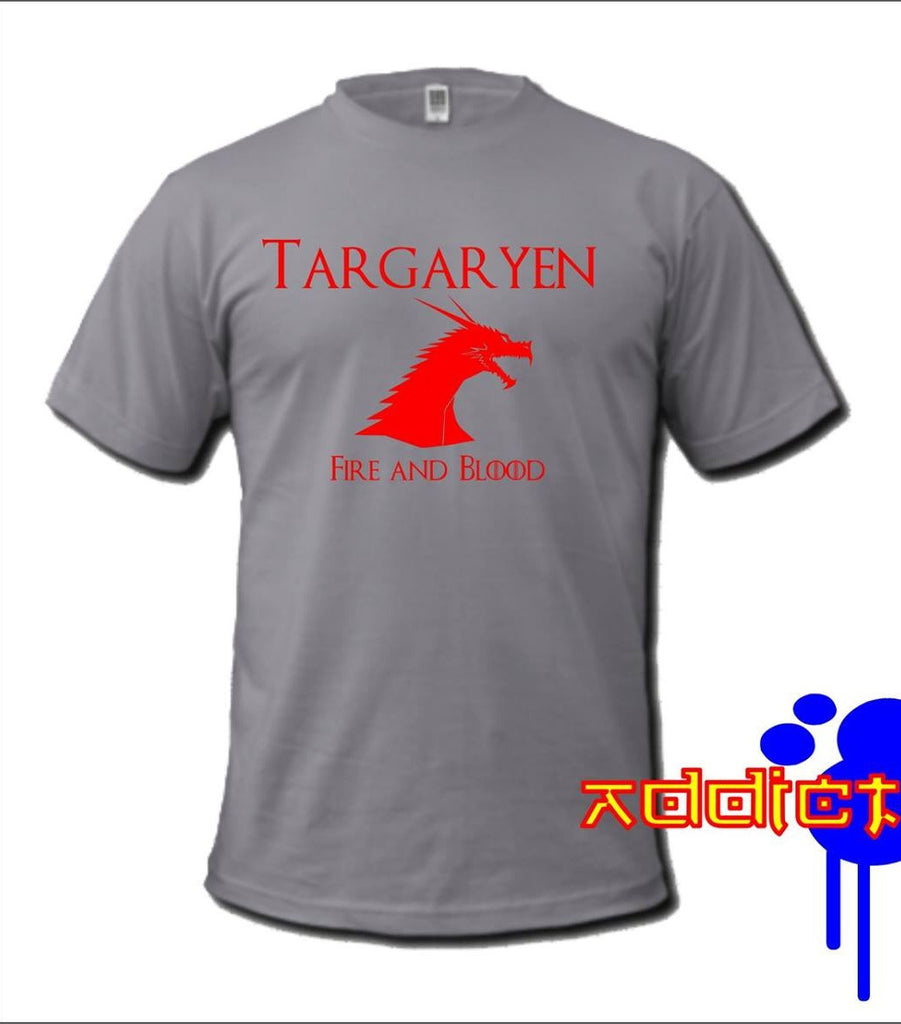 Game of Thrones Targaryen Fire and Blood T-shirt Blasted Rat