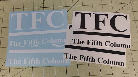 The Fifth Column News TFC | Die Cut Vinyl Sticker Decal