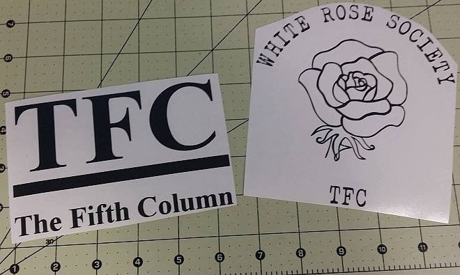 The Fifth Column News White Rose Society TFC Combo Pack | Die Cut Vinyl Sticker Decal