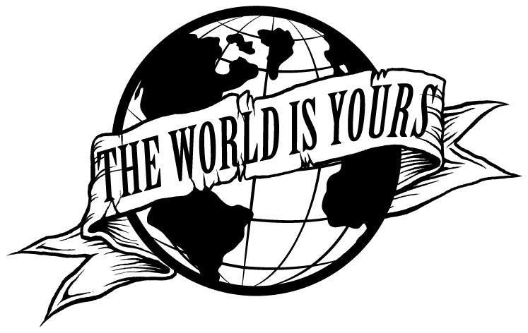 Scarface the world is yours globe die cut vinyl sticker for The world is yours tattoo