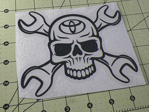 Toyota Skull Wrench | Die Cut Vinyl Sticker Decal | Blasted Rat