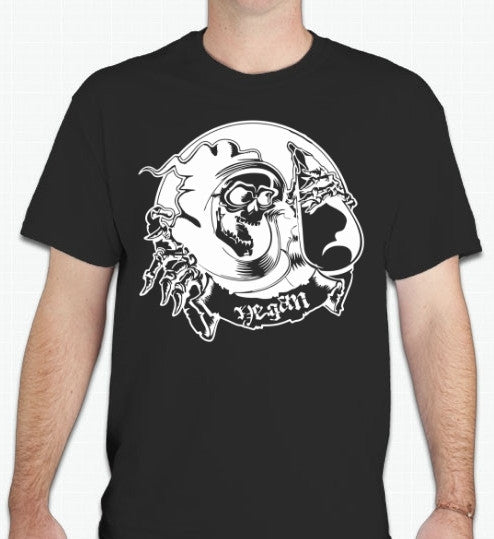 Vegan Death Metal Eggplant Reaper Vegetarian T-shirt | Blasted Rat