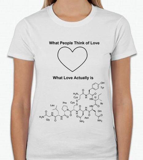 Love Is Chemistry Women T-shirt | Blasted Rat