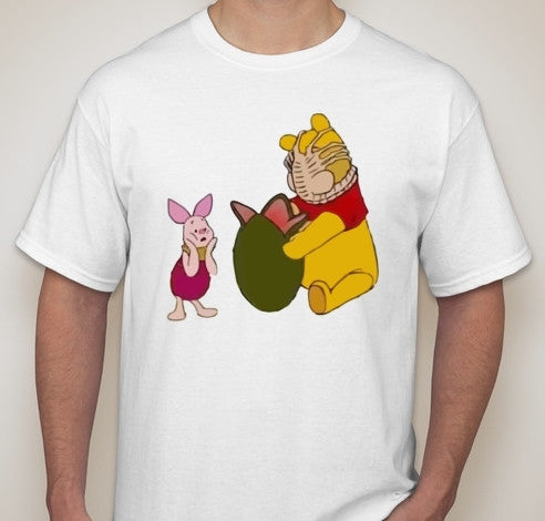 Winnie The Pooh Easter Alien Egg Hunt With Piglet T-shirt