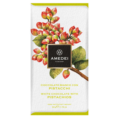 White chocolate bar with Sicilian Pistachios