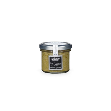 De Carlo Green Olive Cream Jar