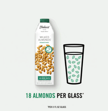 Load image into Gallery viewer, Almond Milk Unsweetened  nuts per glass