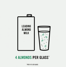Load image into Gallery viewer, Almond Milk Unsweetened nuts per glass competition