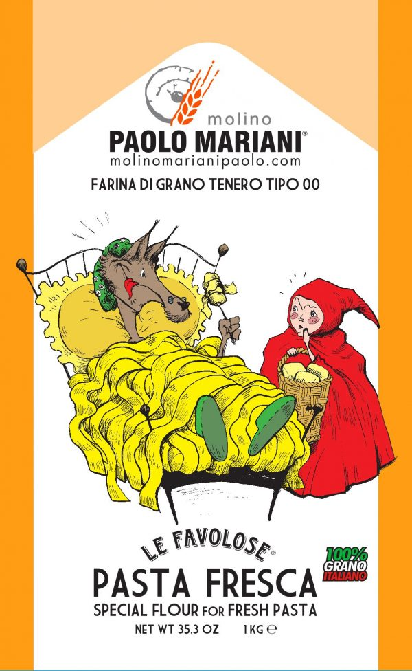 Pasta 00 Flour with Cartoon of Red Riding Hood