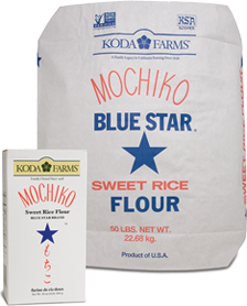 Koda Mochiko Flour box and bulk bag.