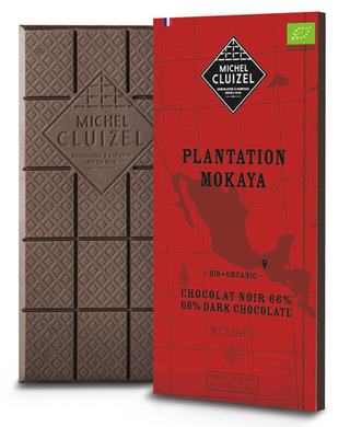 Dark chocolate bar Mokaya Mexico Organic Michel Cluizel