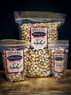 Plain UNSALTED Organic Pistachios in shell