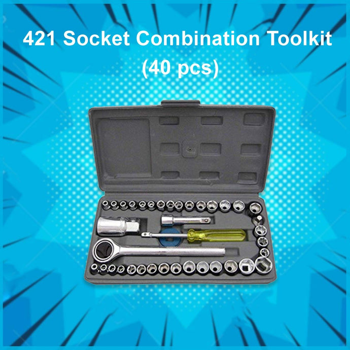 0421 Socket Combination Toolkit (40 pcs) - Cpcrockery