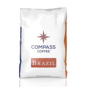 brazil blend coffee beans 5lb bulk bag