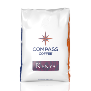 kenya blend coffee beans 5lb bulk bag front