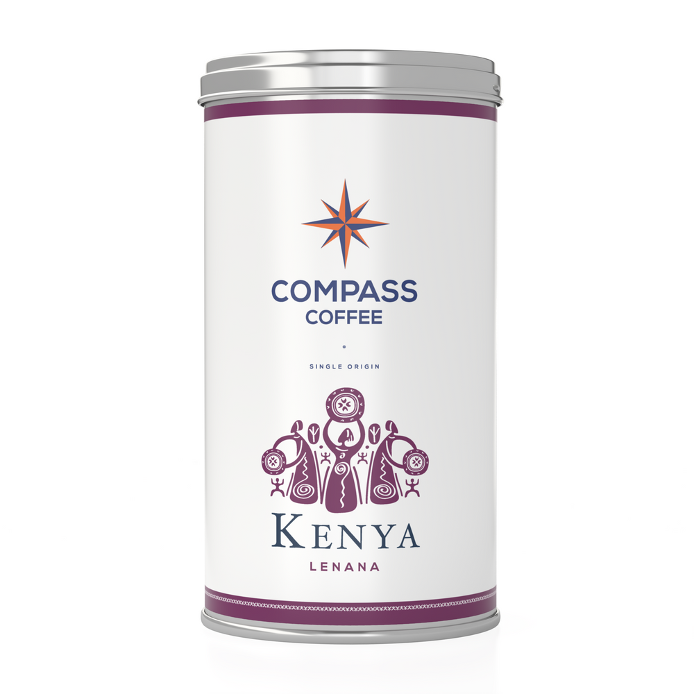 Load image into Gallery viewer, kenya single origin coffee beans blend 12oz tin