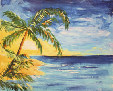 Beach Painting with Palm Trees Beach Painting with Palm Trees Beach Painting with Palm Trees - euroshineshopBeach Painting with Palm Trees