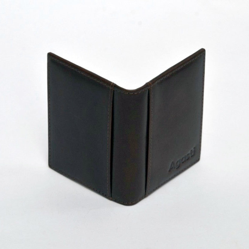 Slim Wallet/Card Holder with ID case { Midnight Black}