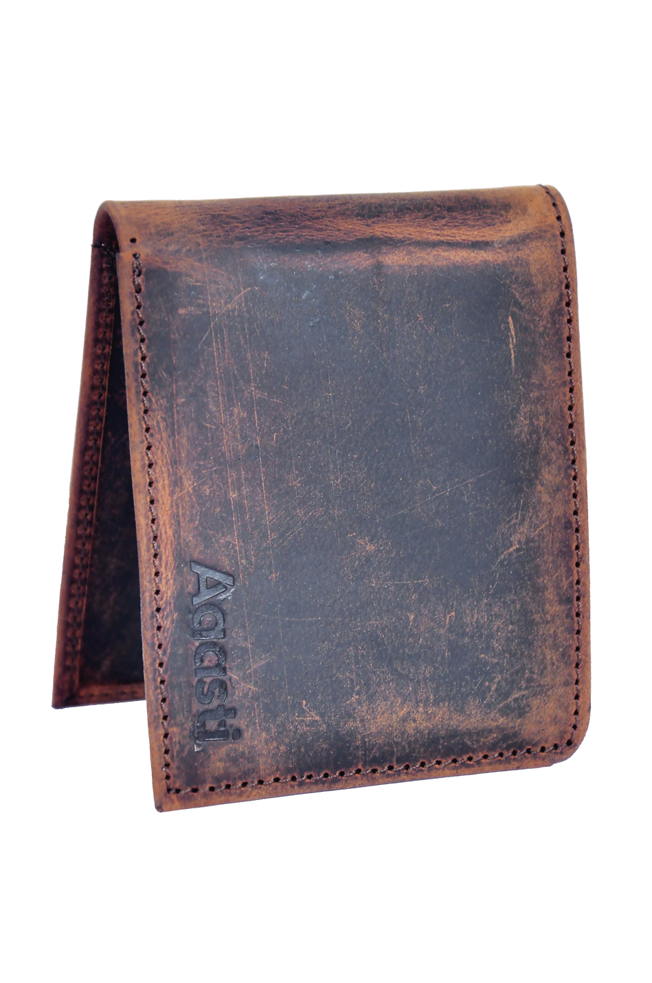 Crazy Horse Sleek Wallet {Rustic Brown}