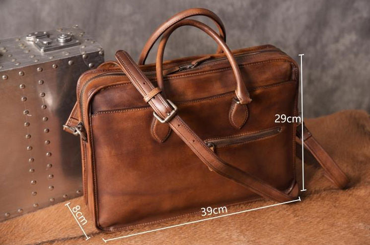 Signature Laptop Bag {Vegetable Tan Brown}