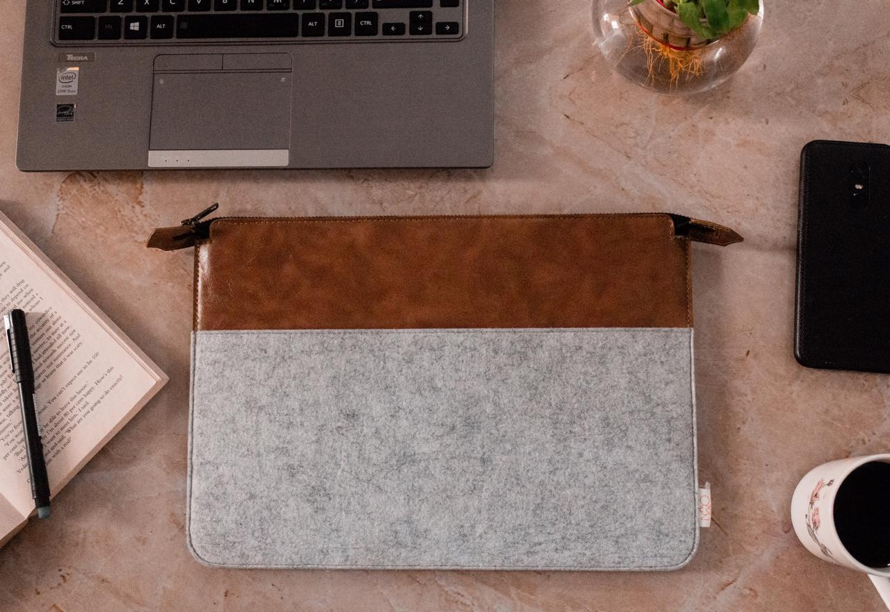 Wool Felt Laptop Pouch Sleeve