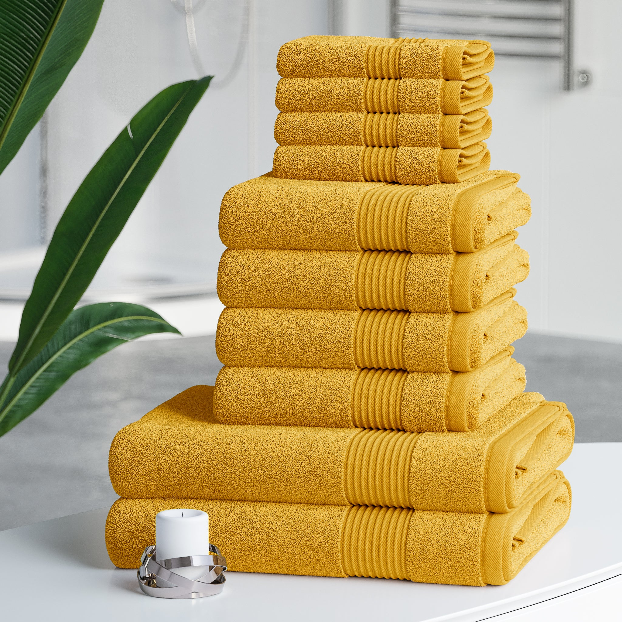 Hilton Collection 100% Cotton 10 Piece Towel Bale