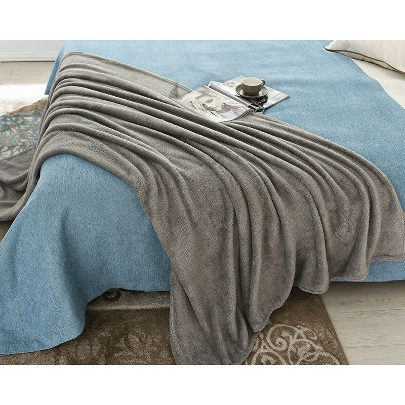 Luxury Teddy Fleece Bear Throw Soft & Thick