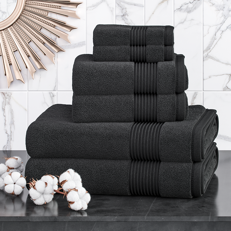 Oxford Combed Cotton 6 Piece Towel Bale