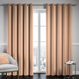 Mink Ready Made Thermal Blackout Eyelet Ring Top Curtain