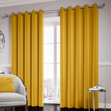 Mustard Ready Made Thermal Blackout Eyelet Ring Top Curtain