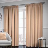 Blackout Pencil Pleat Curtain – Beige
