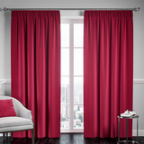 Blackout Pencil Pleat Curtain – Burgundy