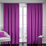 Blackout Pencil Pleat Curtain – Purple