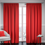 Blackout Pencil Pleat Curtain – Red
