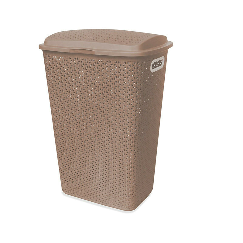 Rattan Laundry Hamper Basket 54L