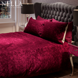 Crushed Velvet Duvet Set