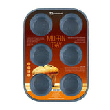 6 Deep Cup Non Stick Moulding Muffin Cake Baking Tray