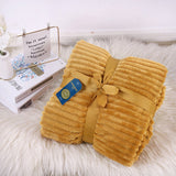Luxury Faux Fur Ribbed Throw Soft & Warm