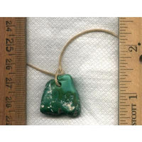 26.2 carat green Stone Mountain Turquoise focal bead - Nevada Cassidys