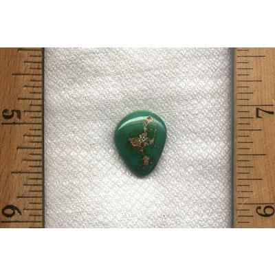 A green Harcross turquoise cabochon from the Nevada Cassidys