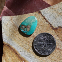 4.5 carat green Stone Mountain Turquoise cabochon