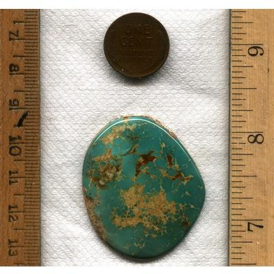 A large teal Stone Mountain Turquoise cabochon from the Nevada Cassidys. Genuine natural turquoise from Northern Nevada.