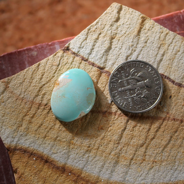 7.3 carat light blue Stone Mountain Turquoise cabochon