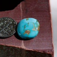 A big blue pillow dome cabochon cut from Stone Mountain Turquoise