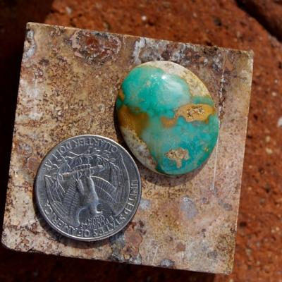 Green boulder turquoise with contrasting interesting patterning