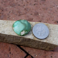 Color change turquoise on full display on this natural turquoise cabochon. Untreated & un-backed Nevada turquoise!