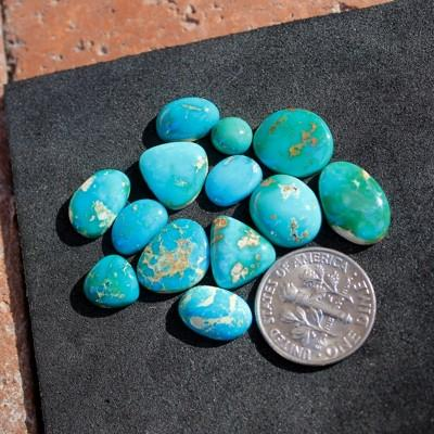 Mixed blue turquoise contrasted from the high deserts of northern Nevada